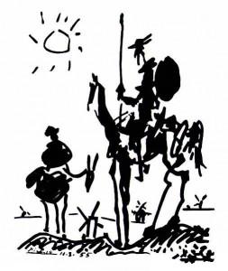 Sancho Pança e Dom Quixote segundo Picasso
